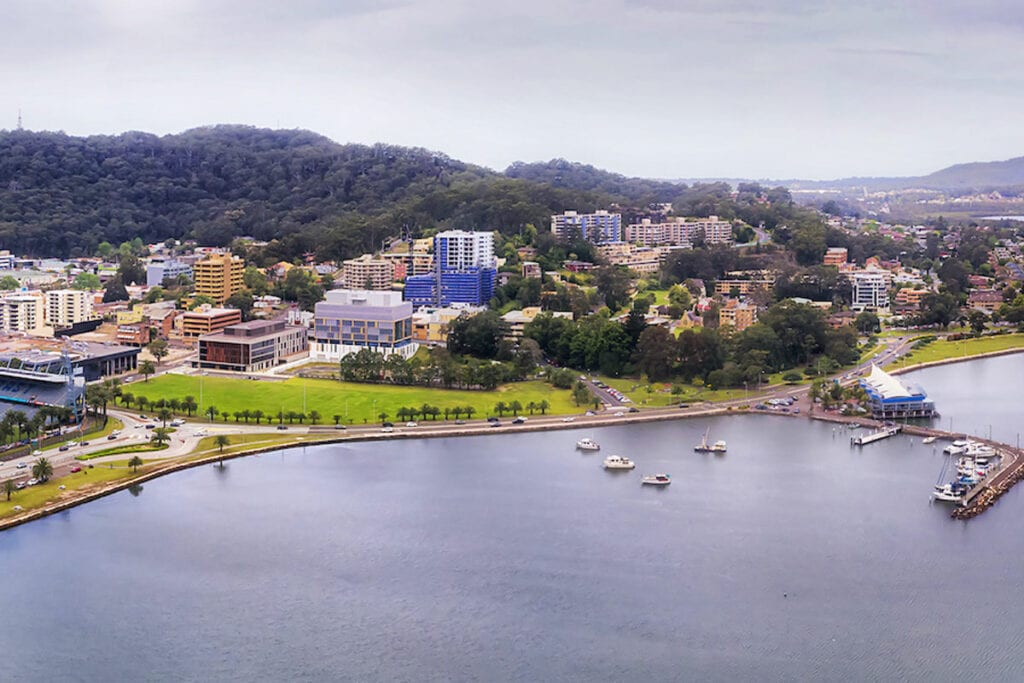Gosford waterfront and Central-Coast stadium